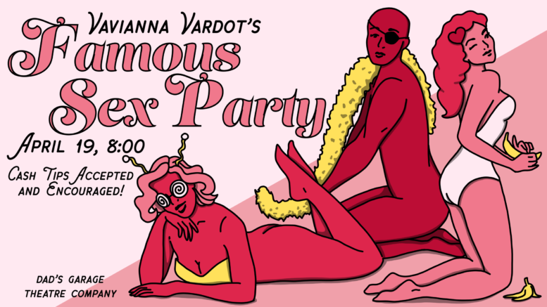 Dad's Garage: Sex Party Poster Illustration